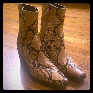 Zara snakeskin boots